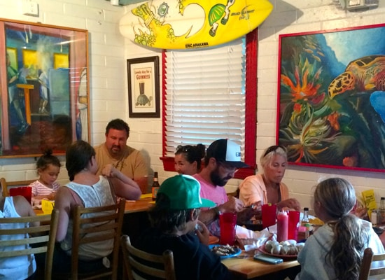 Tortugas Lie family dining OBX
